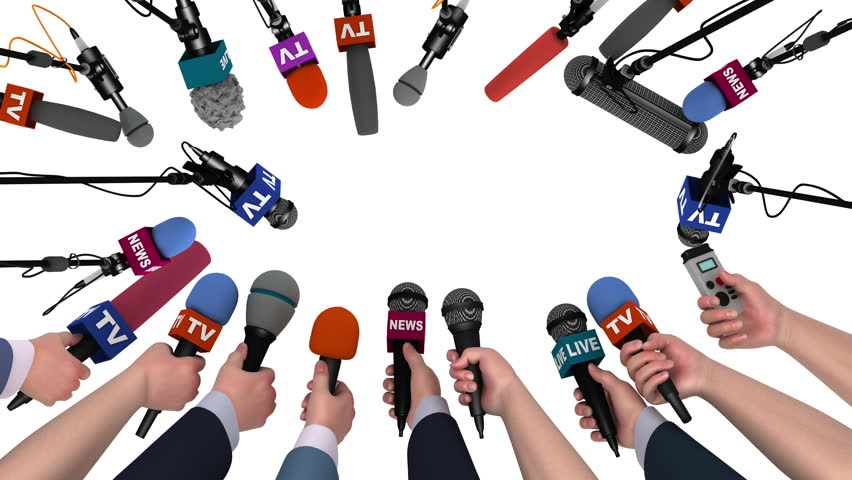 Boom pole microphones and hands with mics on white with alpha channel, 3D | Shutterstock HD Video #18115816