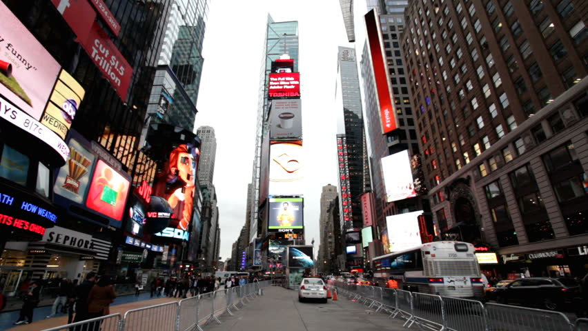 NEW YORK CITY, NY - NOVEMBER 25: Times Square during the week of Thanksgiving on November 25, 2011 in New York City, New York.