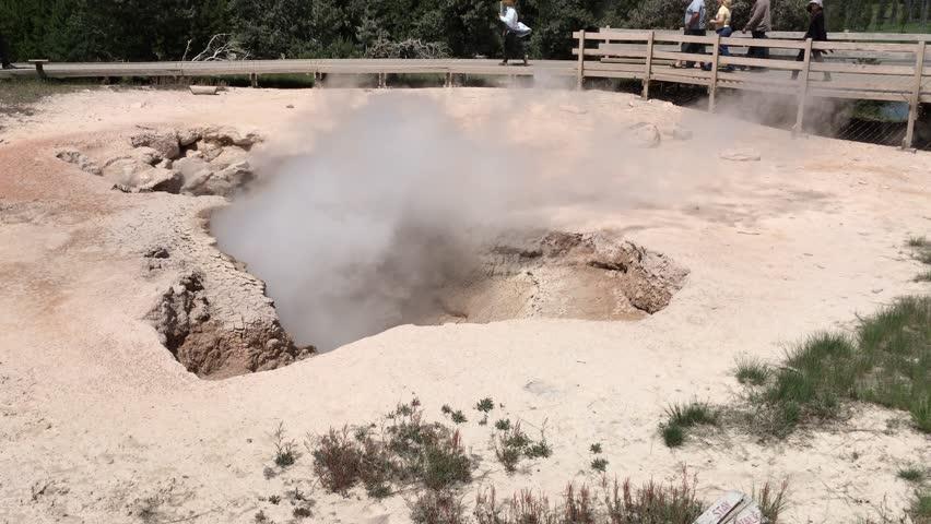 Geyser basin, yellowstone   national park  | Shutterstock HD Video #18166816