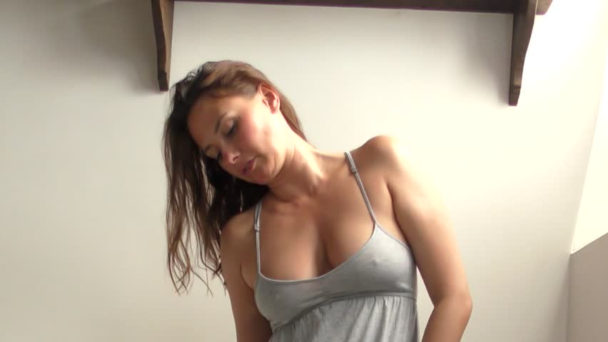 beautiful model during a photosession 2 - full hd video