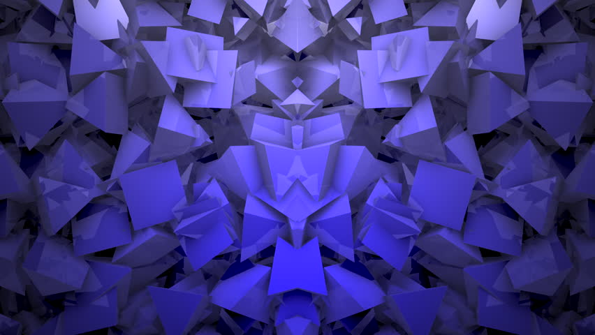 Stock Video Of Three Dimensional Triangular Reflective Block Shapes