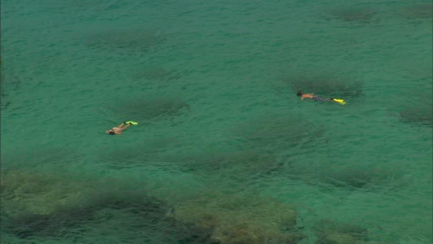 People Snorkeling in Waimea Bay, Hawaii #1824356