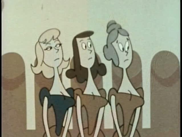 Three women gasping