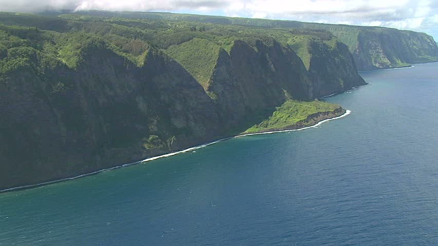 Aerial of the Hamakua Coast, Hawaii