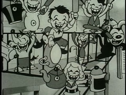 Children playing music on pots and pans