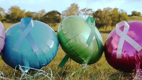 Balloons & Cancer Ribbons