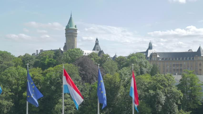 Luxembourg flag on background