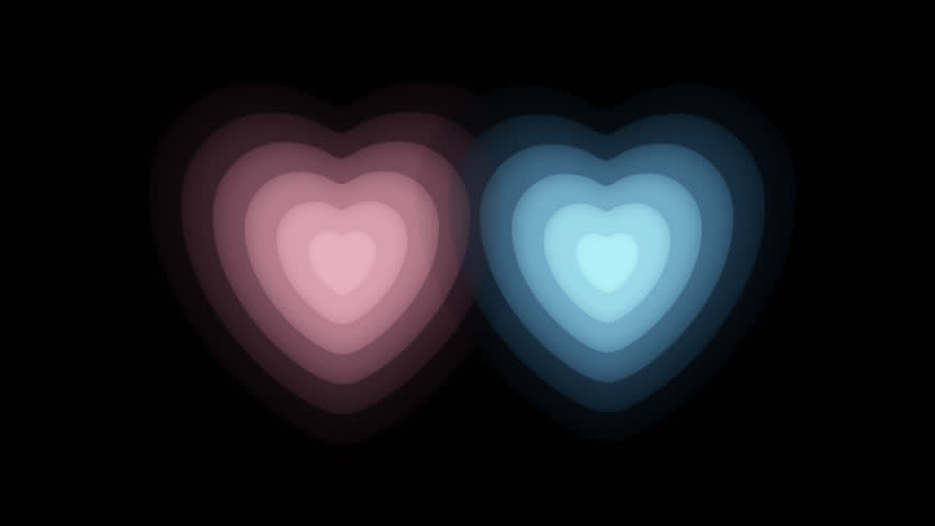 Heart Continuous expansion CG pink blue   Shutterstock HD Video #18378946