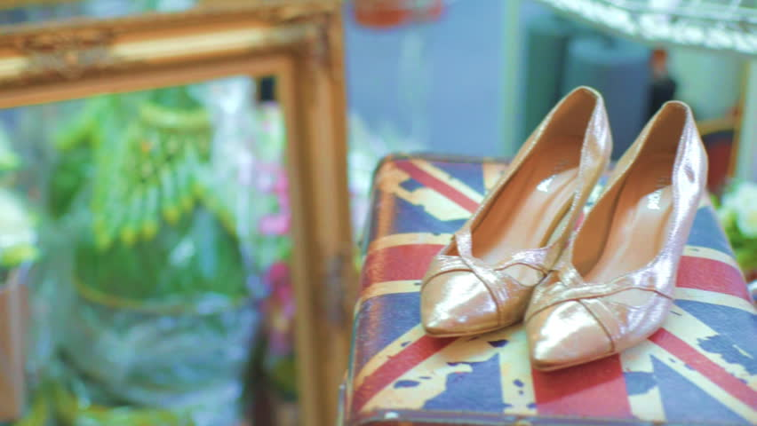 Dolly MS of High Heel Shoes on Display | Shutterstock HD Video #18381634