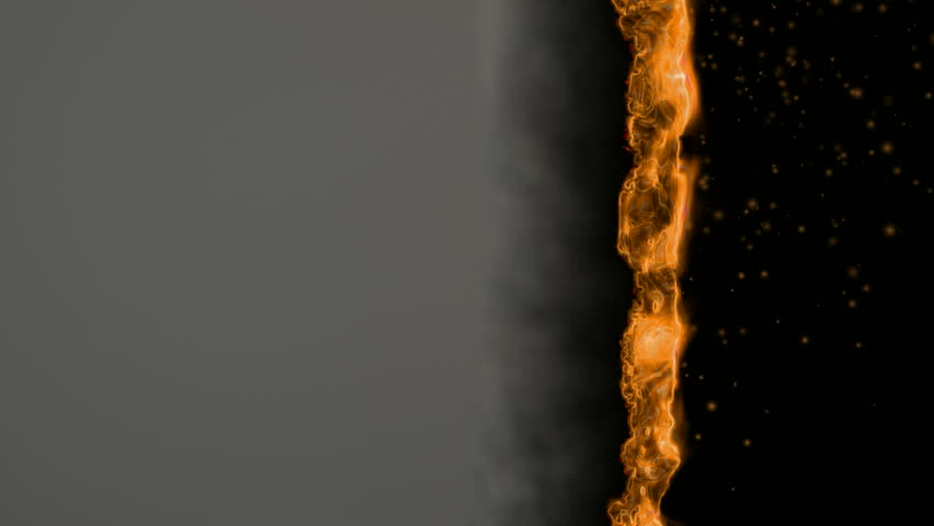 Burning paper with fire. (HD 1080p, 30fps, loop, 3d render)
