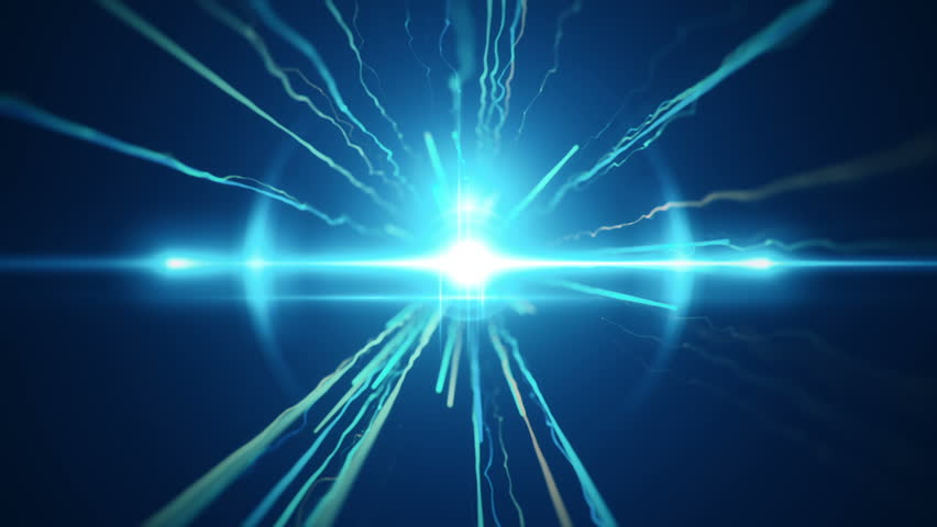 Abstract motion background with fast flying of light streaks. Animation of seamless loop.