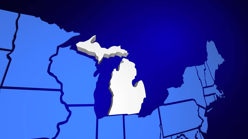 Michigan State Map Usa United Stock Footage Video (100% Royalty-free) on largest inland lake in michigan, all cities in michigan, shape of michigan, silver lake michigan, northern michigan, lower peninsula of michigan, allenton michigan, branch county michigan, lansing michigan, troy michigan, major cities in michigan, thumb of michigan, state parks upper peninsula michigan, ellsworth michigan, tawas point lighthouse michigan, wildlife of michigan, saginaw michigan, people of michigan, battle creek michigan, white lake michigan,