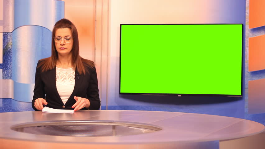 TV presenter ,Green Screen background