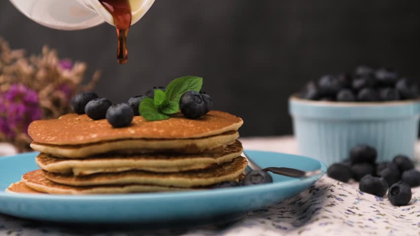 Stock video of tasty homemade pancakes with berries and 8455819 visually similar footage ccuart Images