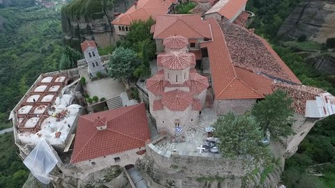 Aerial Footage : Meteora, Greece