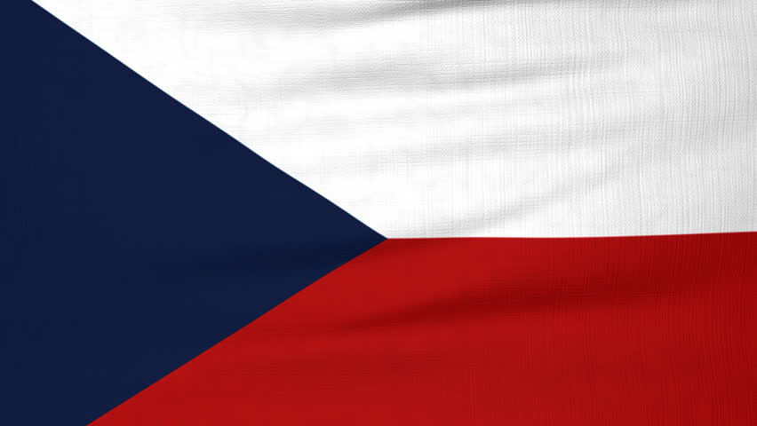 National Flag Of Czech Republic Flying And Waving Royalty Free Video