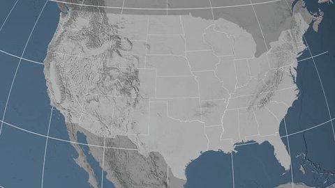 South Dakota Region Extruded On Stock Footage Video (100% Royalty ...