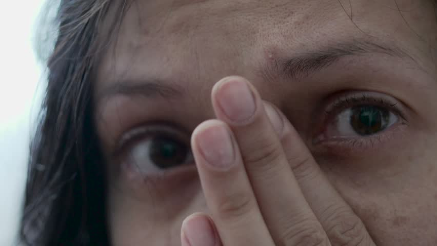 woman crying, sadness