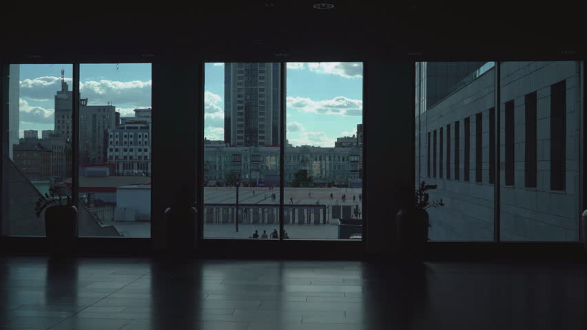 Modern Architecture Videos view modern architecture from building window in beijing,sun pass