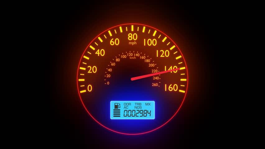 Speedometer Footage Stock Clips