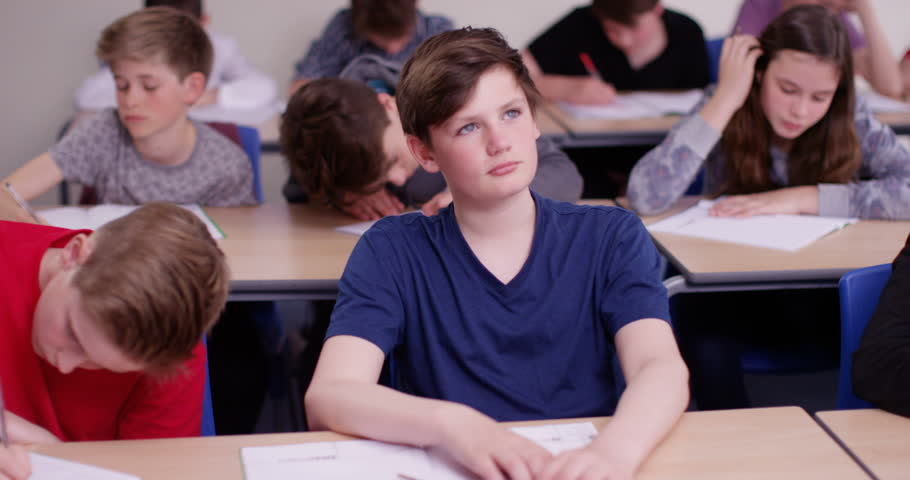 Girl Daydreaming In Class Stock Footage Video 11679128 ...