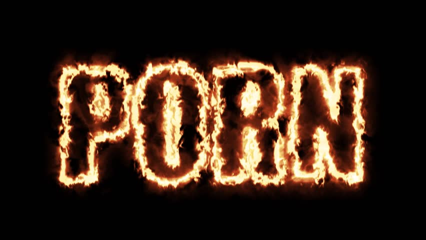 Porn tag hot burning text on black background in 4k ultra hd