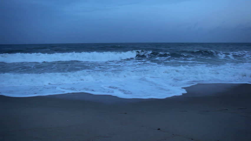 Big waves on exotic beach, Koh Samui Island, Thailand
