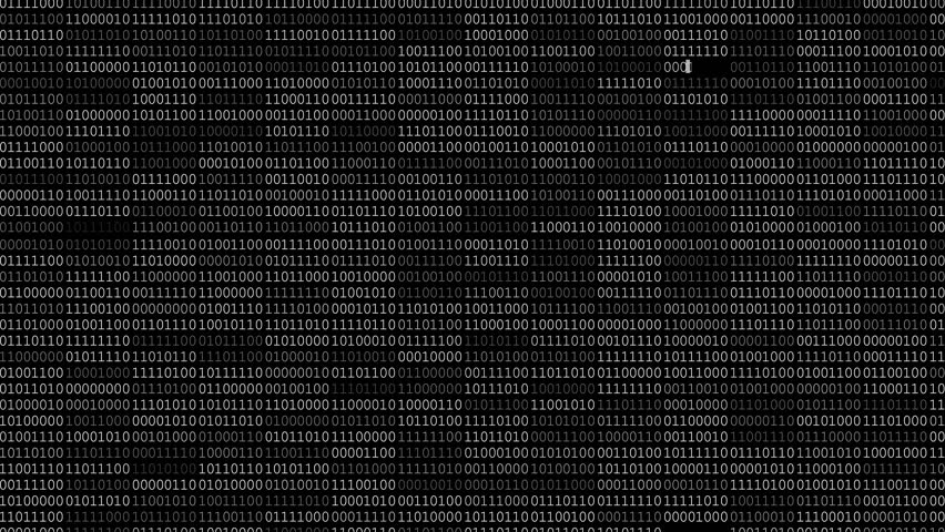 Screen with fast changing blinking and scrolling binary codes words listing black computer programming background texture | Shutterstock HD Video #18770516