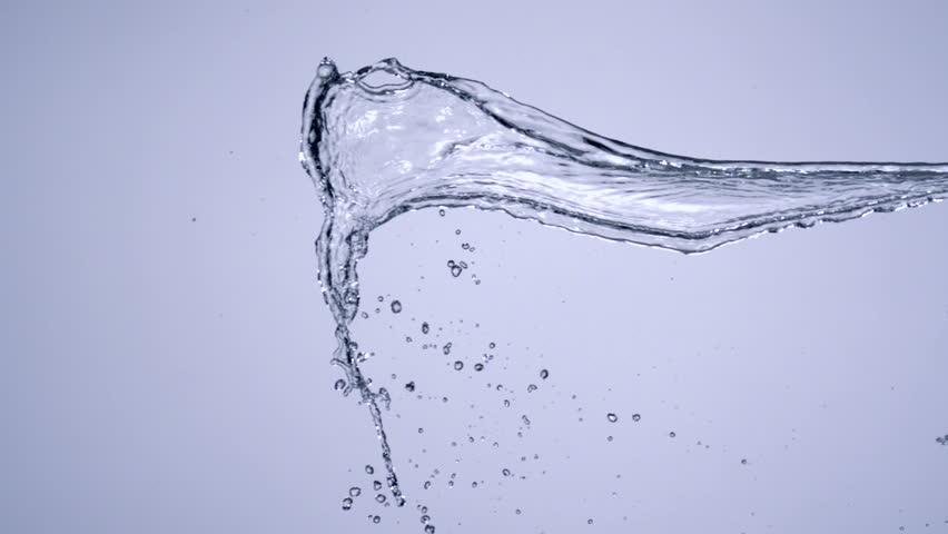 Slo-motion water splashing