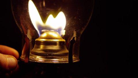 Lighting and Extinguishing a Kerosene Lamp