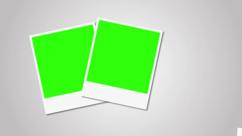Polaroids frames with green screen for your photo 4K 3840x2160