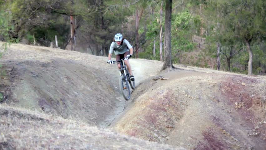 Jump with mountain Bike