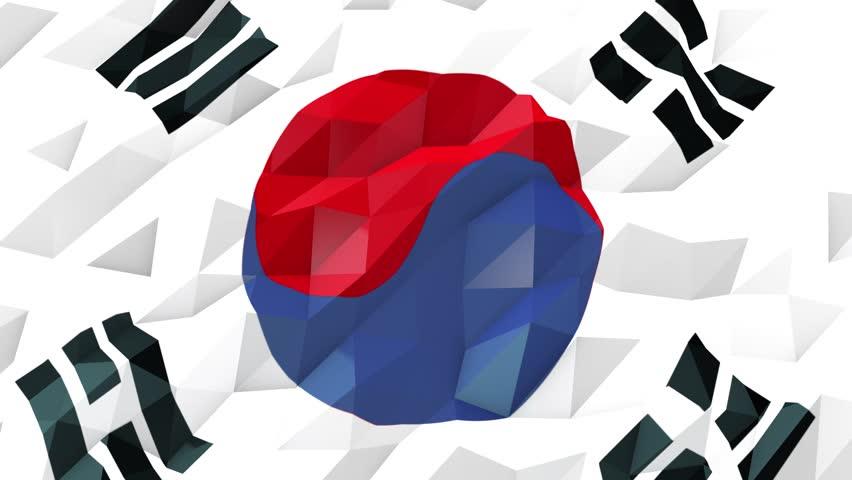 Flag Of South Korea 3d Vidéos De Stock 100 Libres De Droit