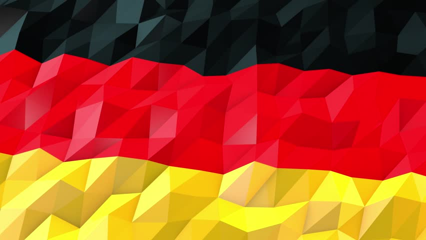 Flag Of Germany 3D Wallpaper Illustration National Symbol Low Polygonal Glossy Origami Style