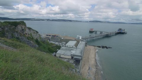 Still Shot of Mumbles Pier and Beach in Swansea