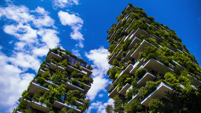 MILAN AGOSTO 2016Verticale. two prestigious buildings, which grow more than 1,000 specimens of 3plants, integrate seamlessly into the green around them.