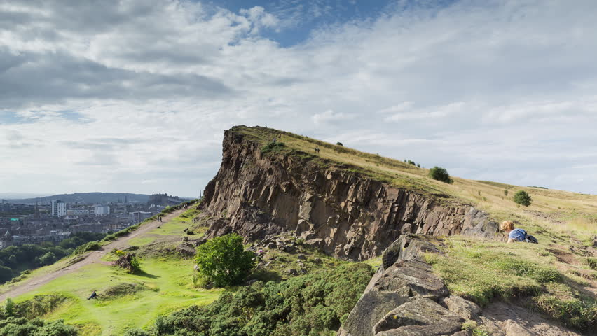 Timelapse Overlooking Salisbury Crags - Edinburgh