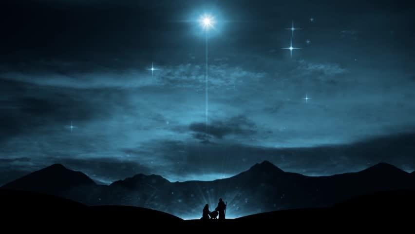 Christmas Nativity. Religious Motion Background. Winter Holidays ...
