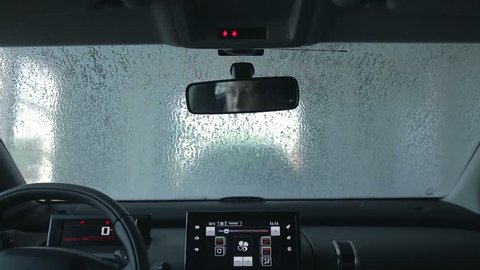 Car wash with pressured water