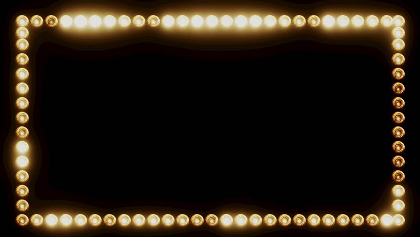 Frame Of Light Bulbs For Stock Footage Video 100 Royalty