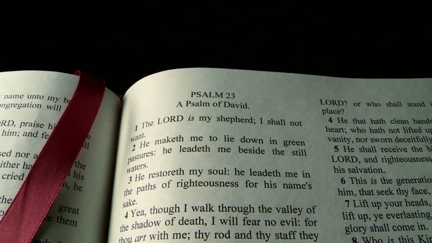Scripture selection from the Holy Bible, Psalm 23