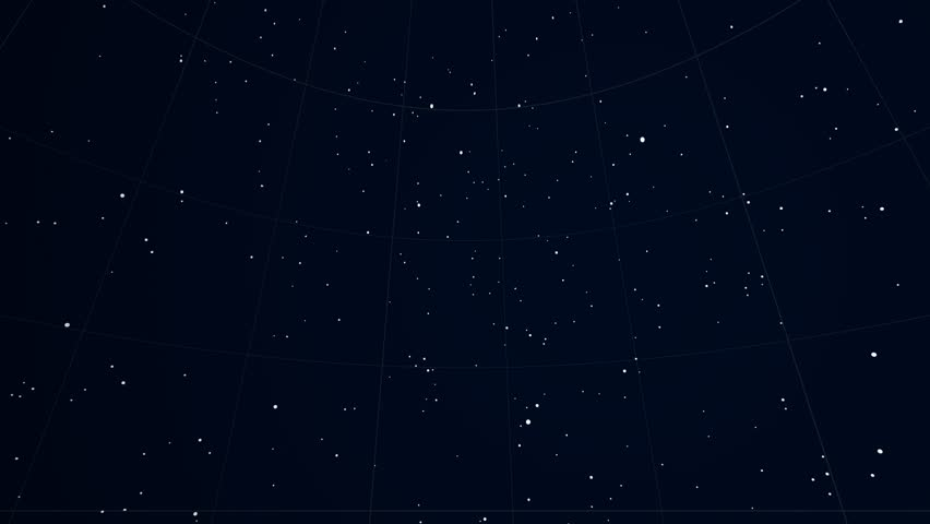 Constellation of Cetus. Bright stars (up to 6.5M) - vector shapes. Constellation figures and boundaries. Equator, ecliptic and galactic equator reference lines