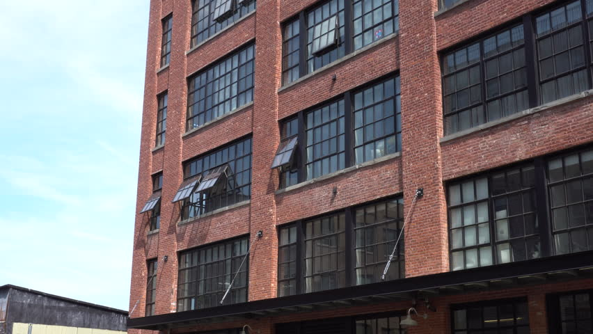 DX Day Exterior Establishing Shot Of A Loft Apartment Building In DUMBO  Brooklyn. Hipster Lifestyle Part 84