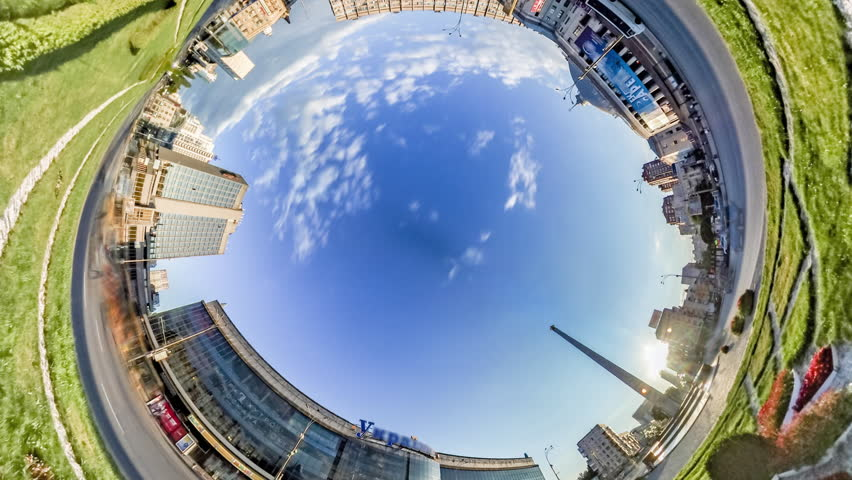 Rabbit Hole 360 Video, Timelapse, Spherical, Panorama Video, 360 Degree, Rabbit Hole, Planet 360 Degree, Rabbit Hole, Planet, Victory Square in Kiev. Victory Obelisk. National Circus of Ukraine, | Shutterstock HD Video #19532773