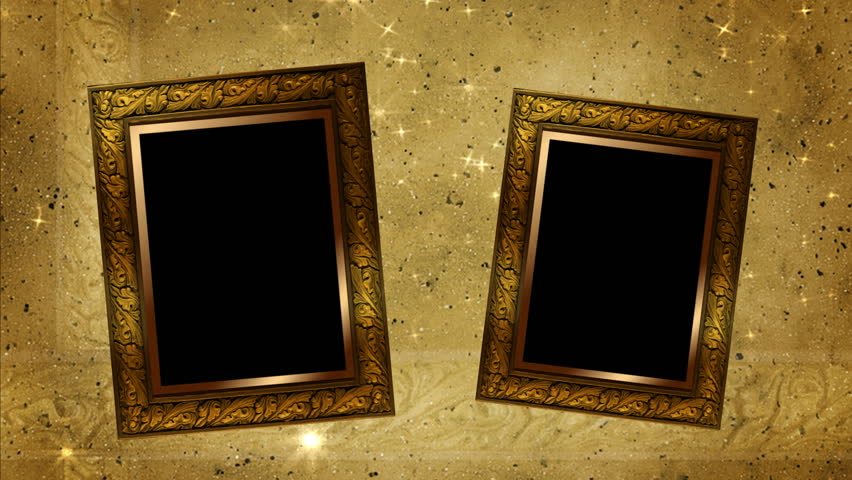 Old Style Picture Wood Frame With Moving Shadow Background