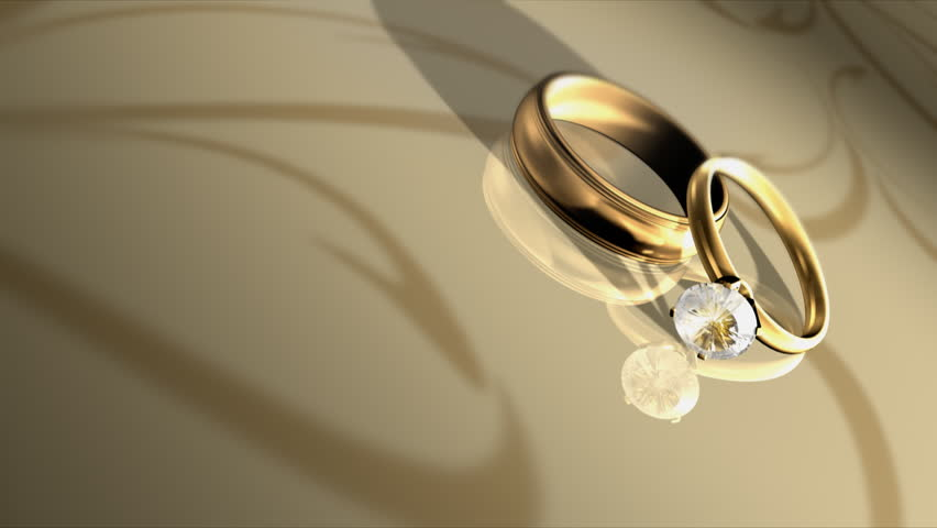 Wedding Rings Hd Stock Video Clip