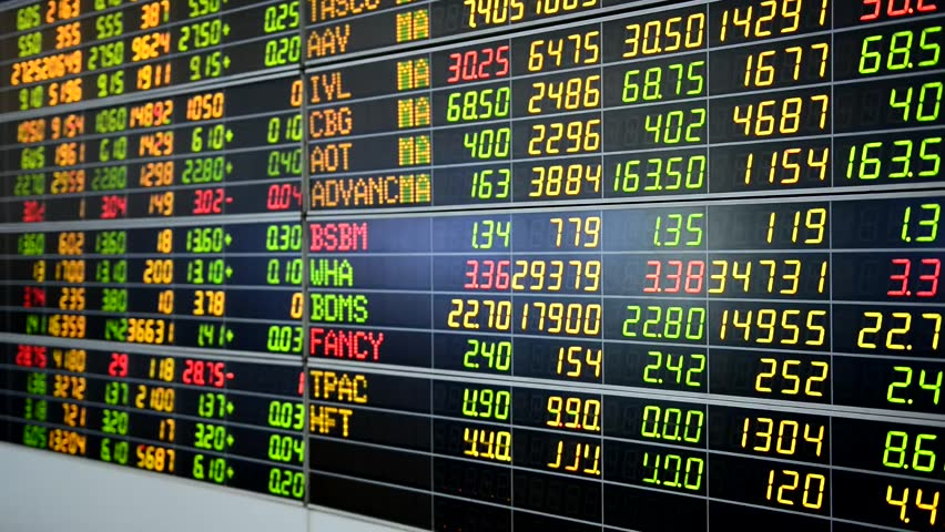 Bangkok, Thailand - August 7: Economic conditions of the Stock Exchange of Thailand on August 7, 2016   Shutterstock HD Video #19685656
