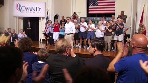 The Crowd Claps For Mitt Romney At The Mirror Lake Lyceum - St Petersburg Florida, May 16, 2012