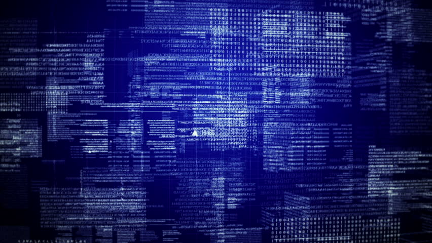 Program code text rotating.Blue. Loop able Background.Running hud text.Technological intro, screensaver.TYPE2 | Shutterstock HD Video #19761196