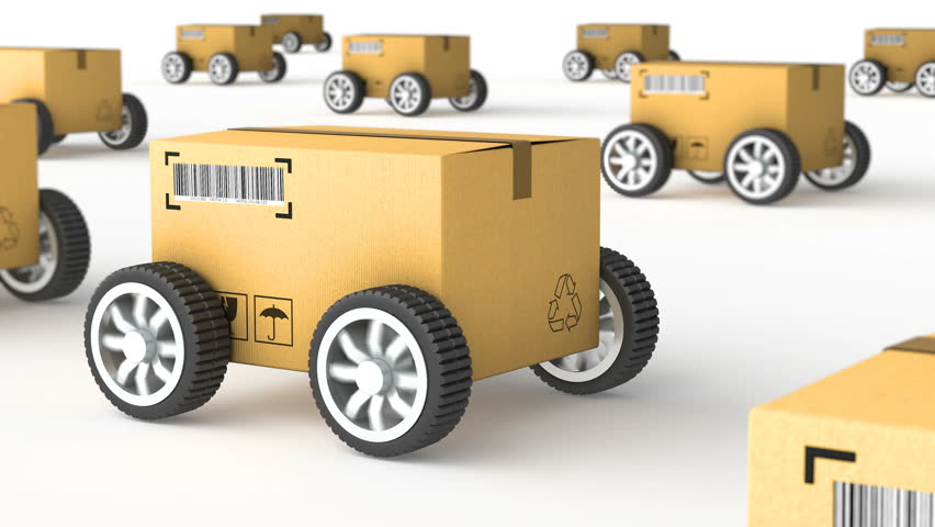 Hand Truck with Cardboard Box Stock Footage Video (100% Royalty-free)  19762006 | Shutterstock
